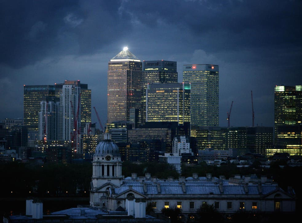 Financial district of Canary Wharf