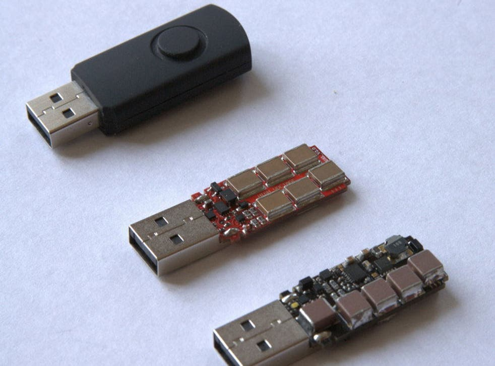 There's nothing obvious that could distinguish the USB Killer from a regular thumb drive
