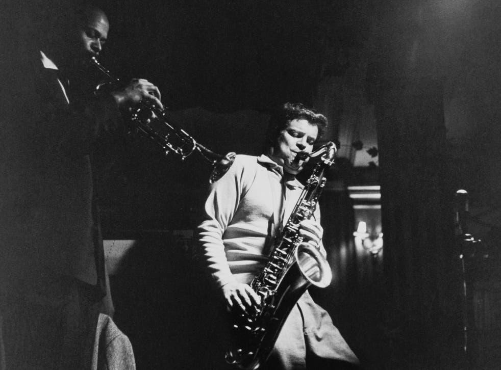 "English jazz multi-instrumentalist, Edward Brian ""Tubby"" Hayes (1935 - 1973) playing the saxophone, circa 1964"