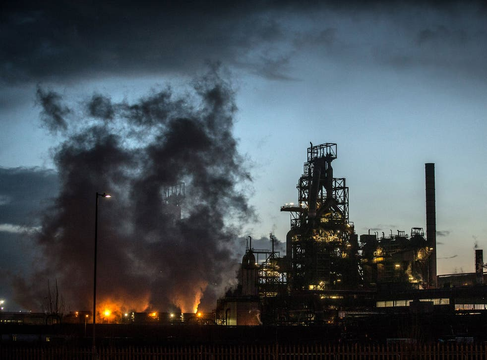 The Tata owned steel works in Port Talbot, Wales (pictured) are thought to be safe from the cuts