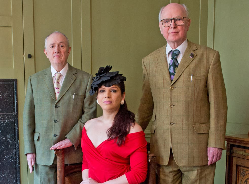 Gilbert & George and Victoria appear together at their studios in London ahead of Serpentine's 10th annual festival of ideas