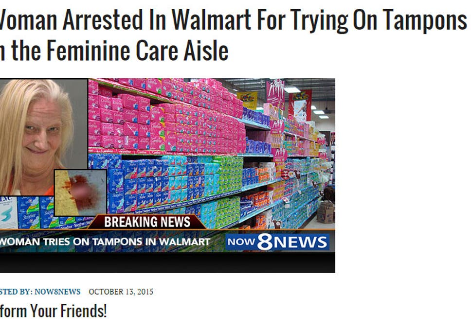 No, a woman was not arrested for \'trying on\' tampons in ...
