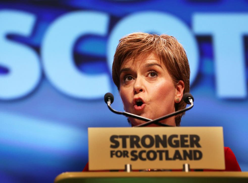 """In her speech Nicola Sturgeon labelled the Tories and Labour as """"can't do parties"""""""