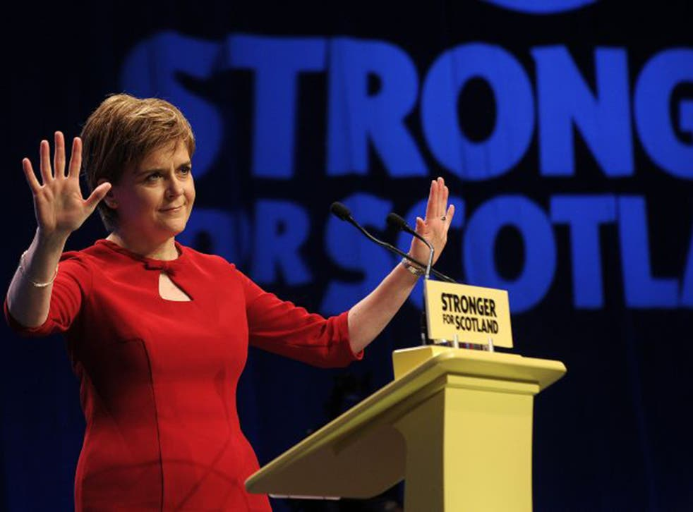 """In her speech to Conference, Nicola Sturgeon labelled the Tories and Labour as """"can't do parties"""""""