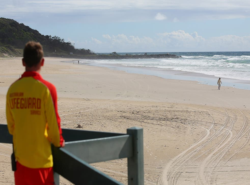 Conditions on South Curl Curl beach are making the search mission difficult