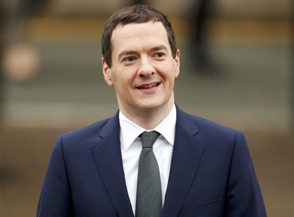George Osborne walks to the venue on the fourth day of the Conservative Party Conference in Manchester