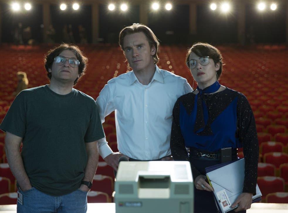 Michael Stuhlbarg, Michael Fassbender, Kate Winslet in Steve Jobs