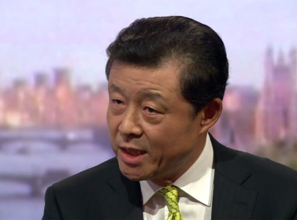 Liu Xiaoming, Chinese ambassador to the UK, speaking to 'The Andrew Marr Show'