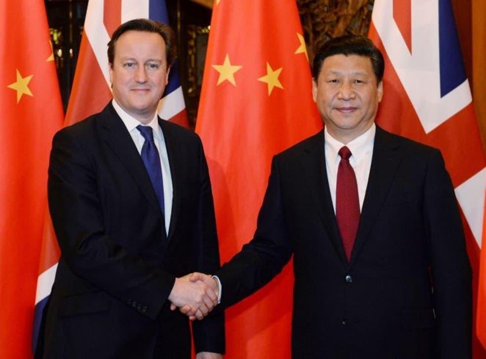 David Cameron meeting  Xi Jinping in Beijing in 2013