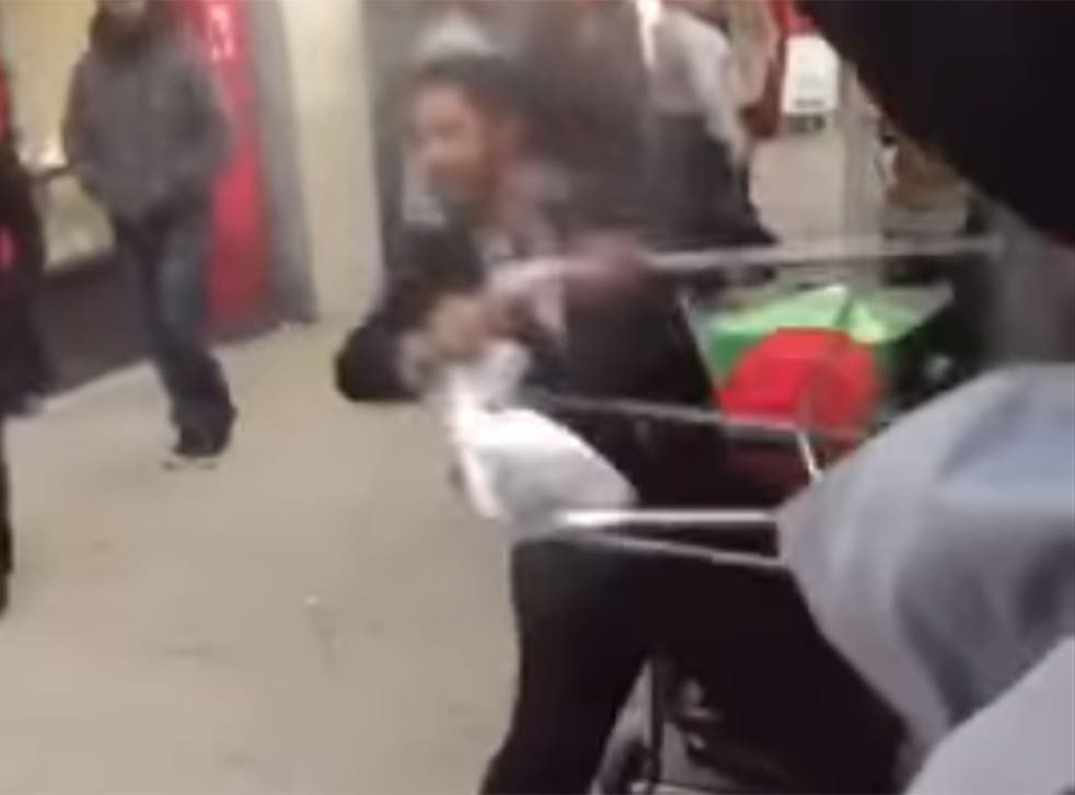 A video appears to show a man launching a racist rant on an elderly Turkish man in north London