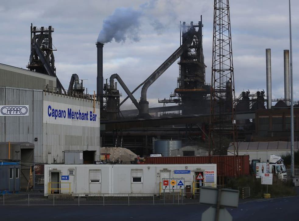 Caparo, in the shadow of the Tata Steel processing plant in Scunthorpe; the firm employs 1,700 people