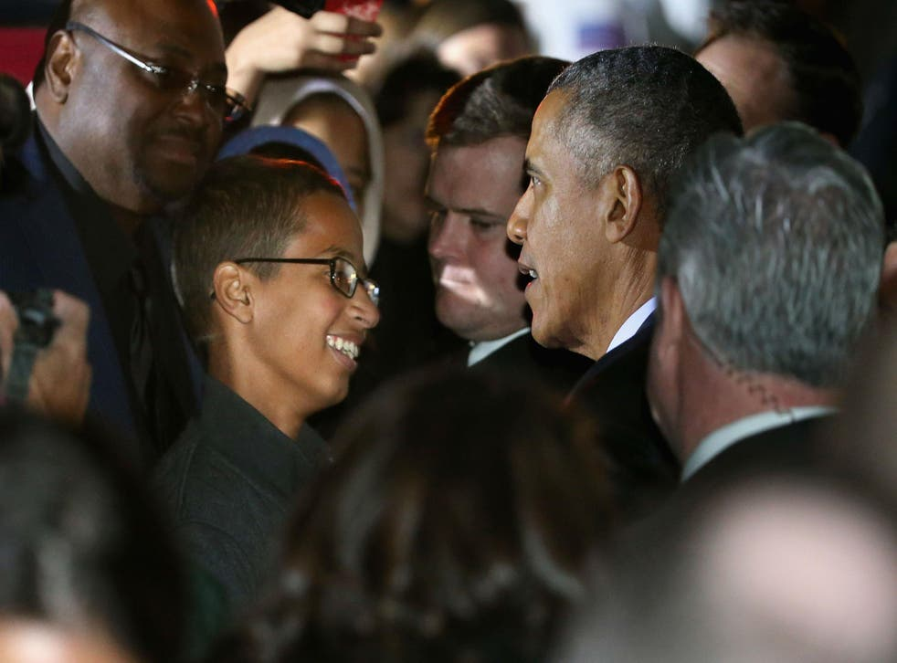 Ahmed Mohamed meets Obama at the White House
