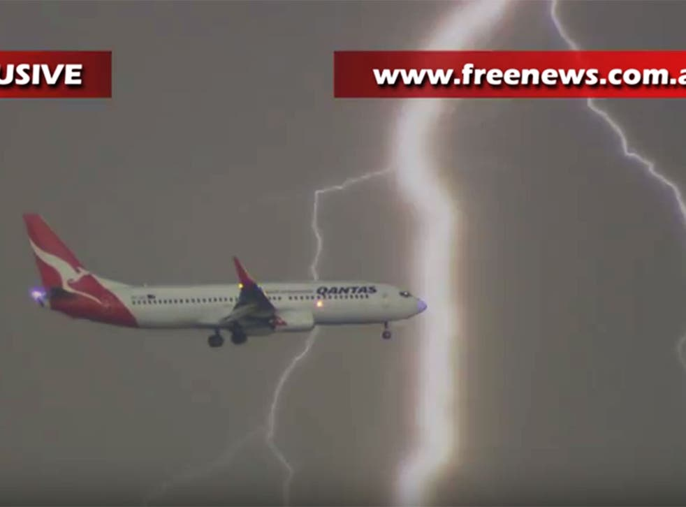 The dramatic footage captured by a storm chaser