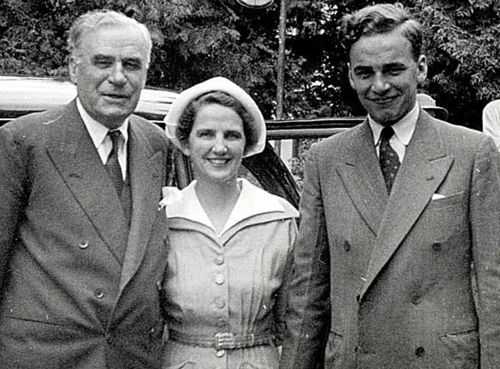 Australian media baron Keith Murdoch, with his wife Elizabeth and son Rupert, who was to follow in his footsteps, pictured around 1950