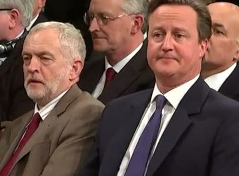 Jeremy Corbyn's net satisfaction rating was -3 and David Cameron was -15