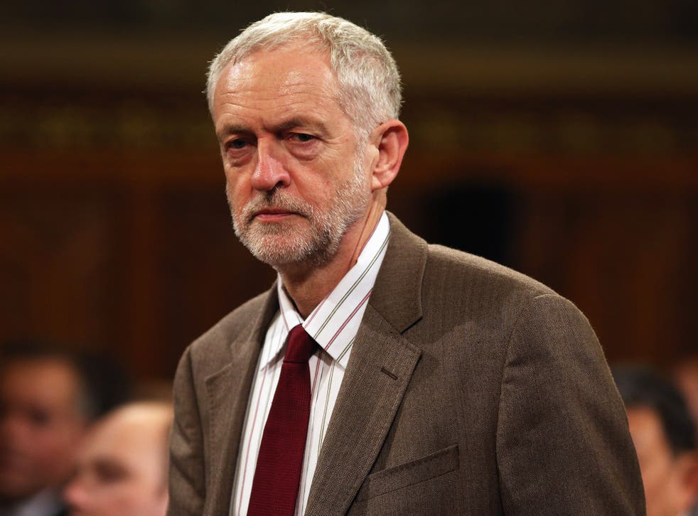 Jeremy Corbyn at the Royal Gallery on Tuesday for the state visit of China's President