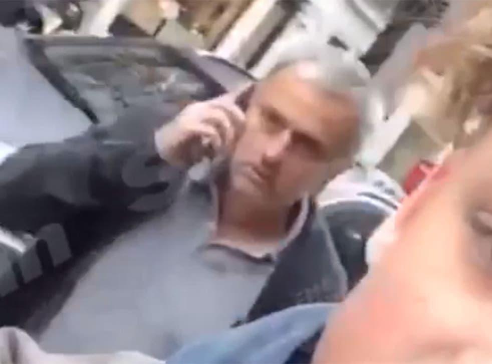 Footage of Jose Mourinho