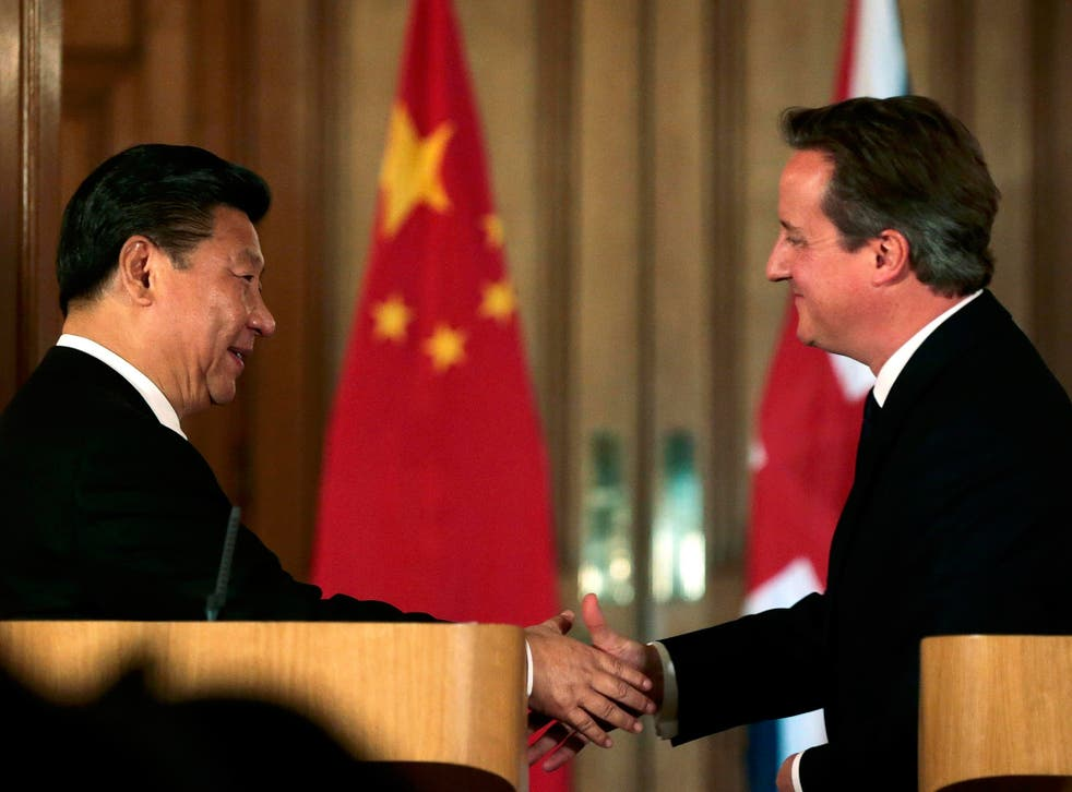 President Xi gave a short press conference with David Cameron