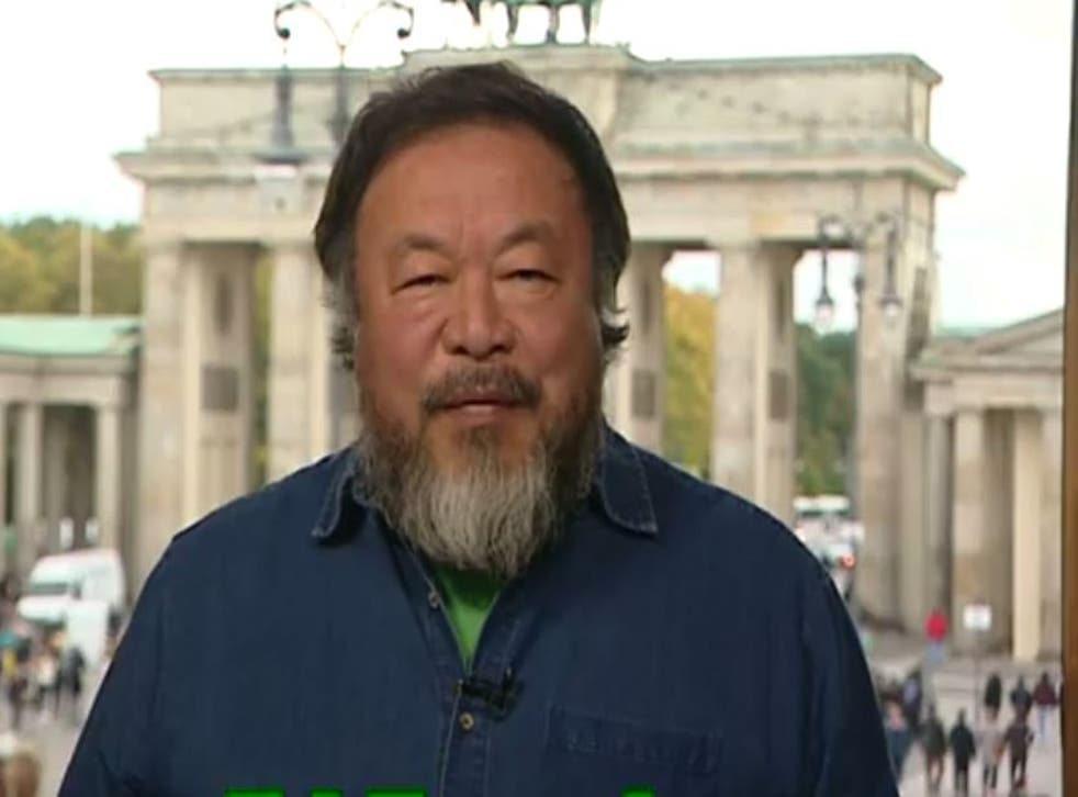 Chinese artist Ai Weiwei warned David Cameron not to sacrifice Britain's leading reputation on human rights by his pursuit of China's money