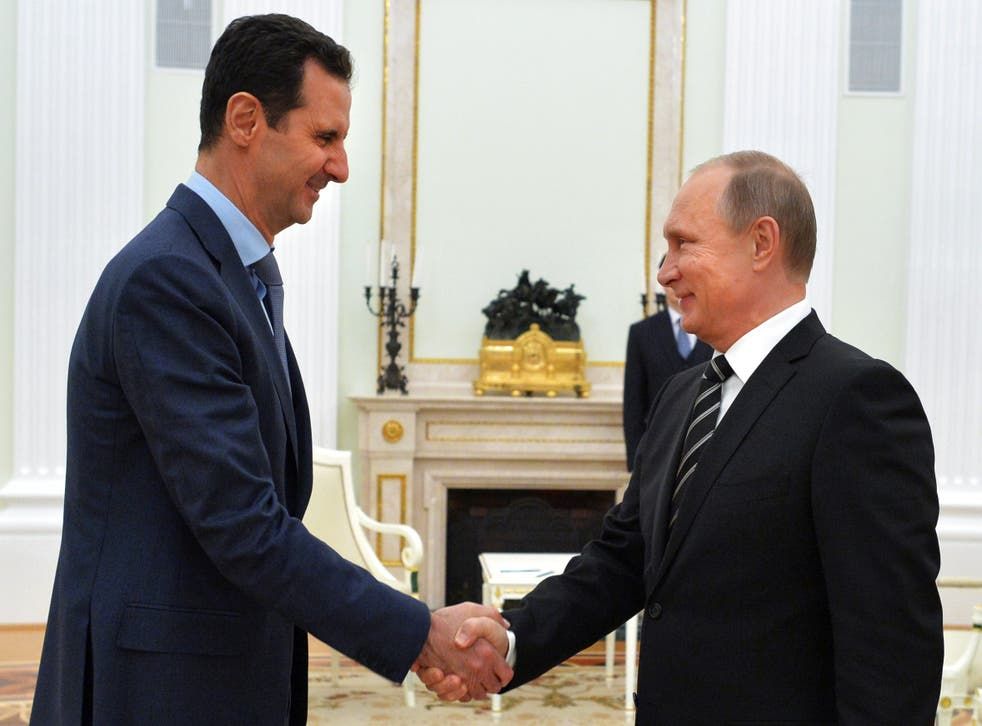Bashar al-Assad and Vladimir Putin
