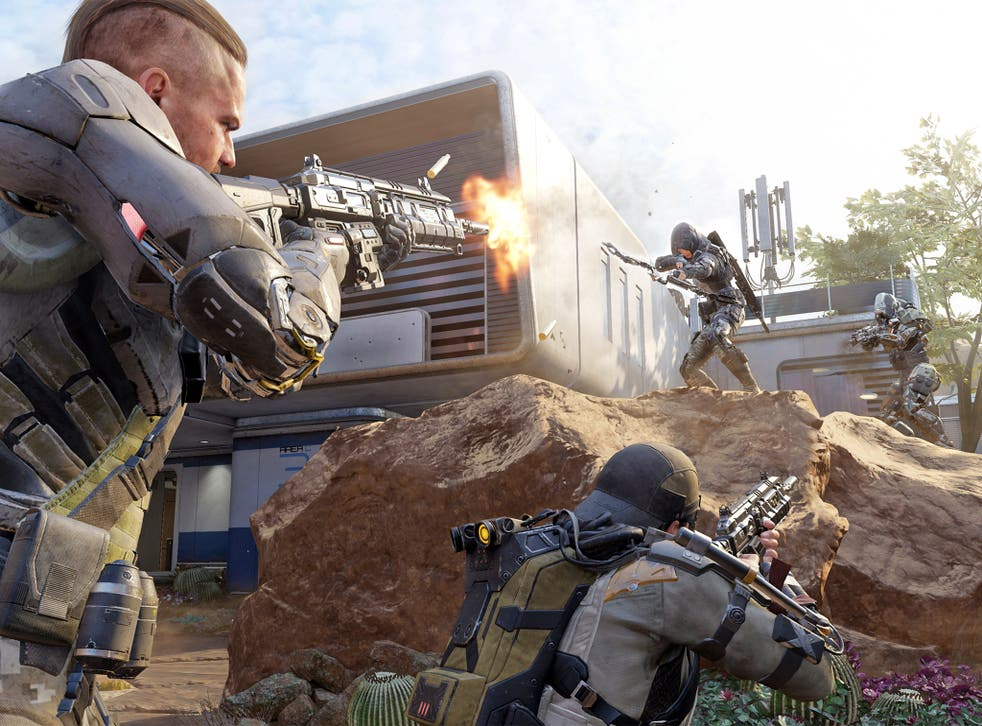 Virtually reality: a still from the forthcoming sequel to the bestselling 2012 game Call of Duty: Black Ops 2