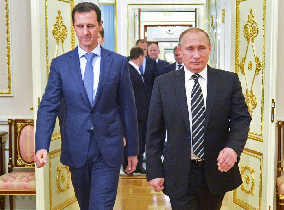 President Assad with President Putin at the Kremlin this week