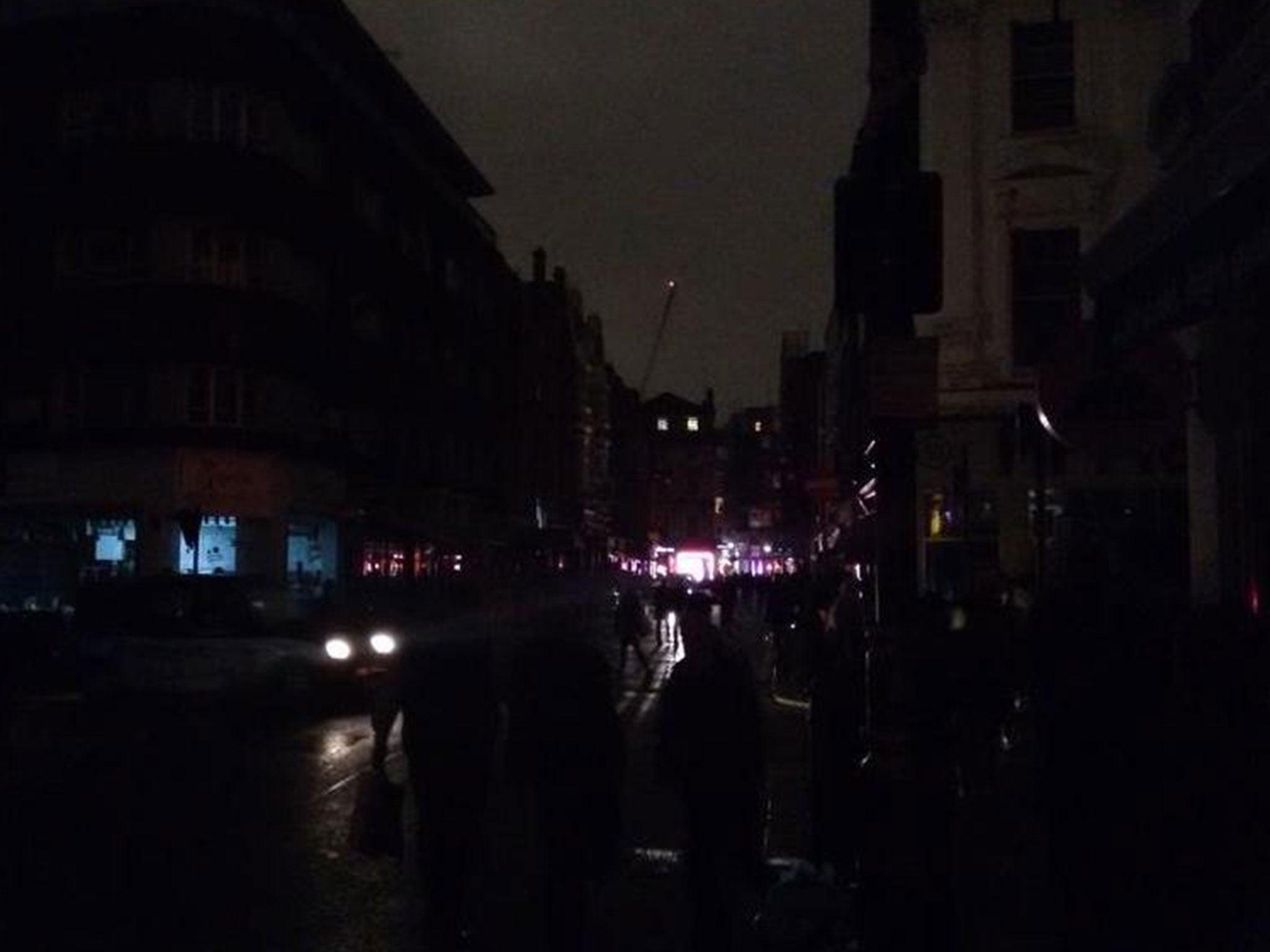 A huge power cut has hit London's West End