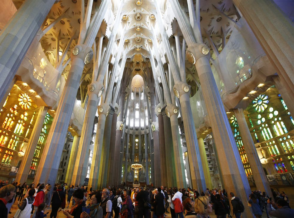 Antoni Gaudi's Sagrada Familia Basilica in Barcelona has entered the final phase of building its six towers. Officials say when it is finished in 2026 it will be Europe's tallest religious building at 172.5m