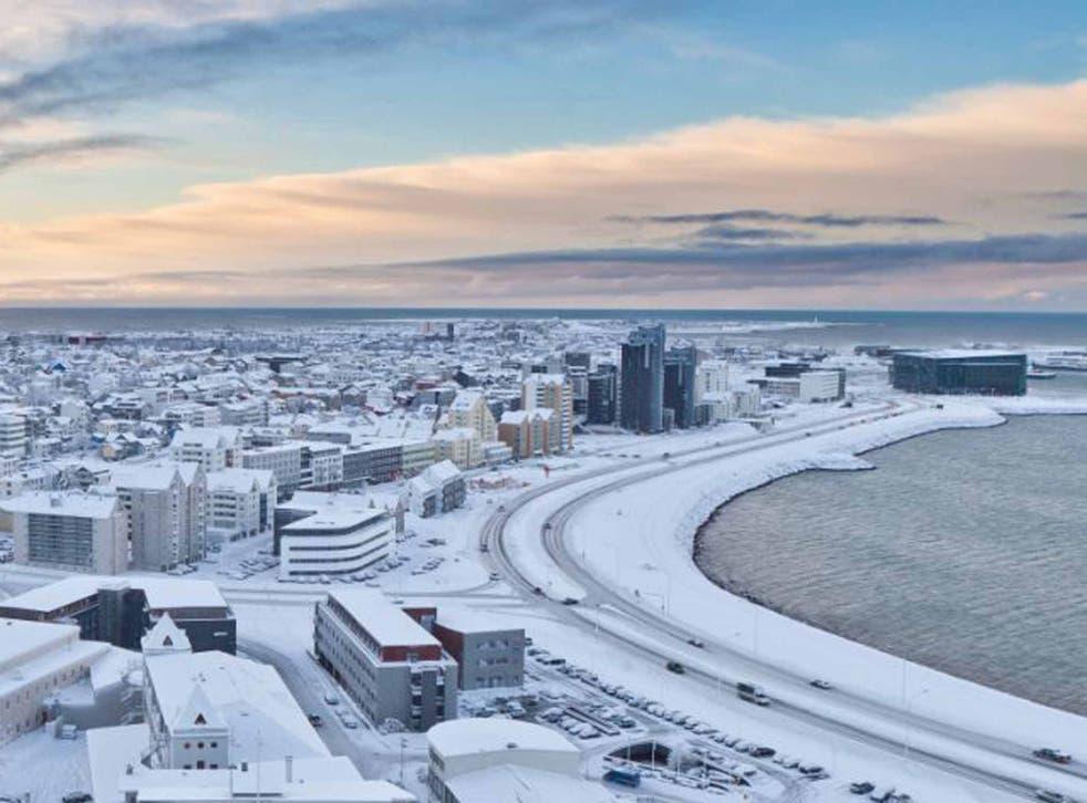 Deep freeze: Reykjavik in the winter