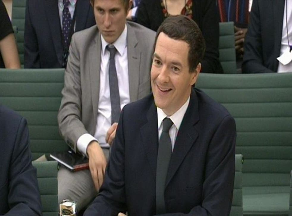George Osborne appears before the Treasury Select Committee