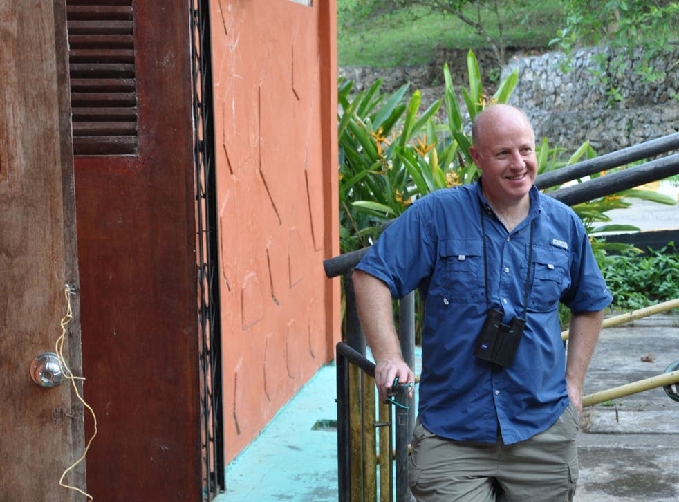 Peter Daszak, the parasitologist who leads EcoHealth Alliance's work in 20 countries, at its Borneo base