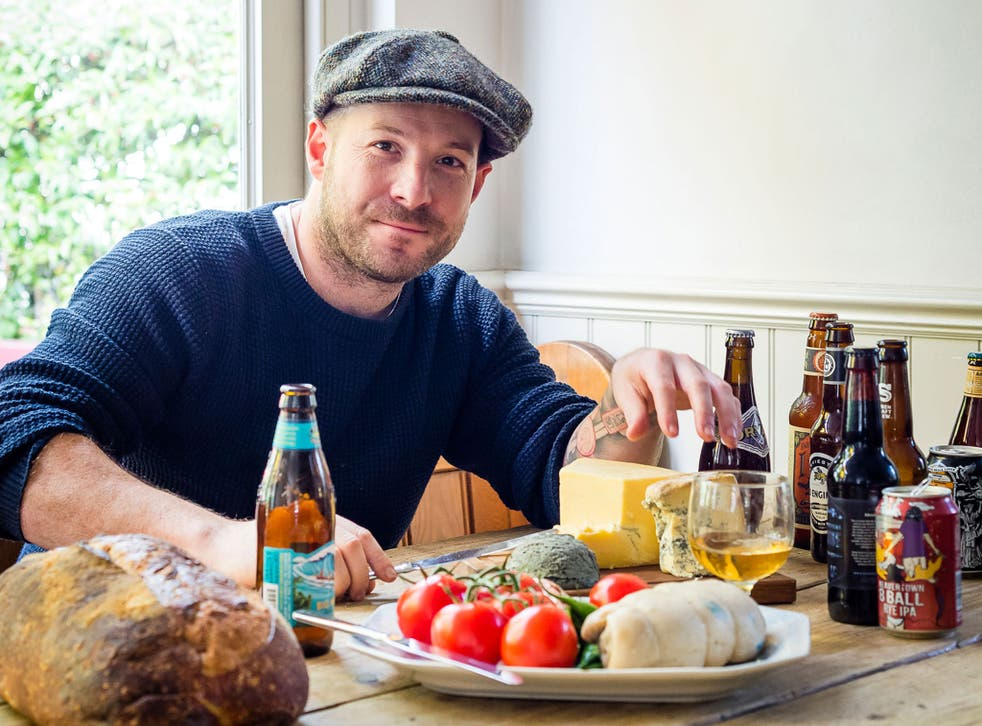 Neil Rankin with the ingredients for a Porter and scotch bonnet chilli con carne
