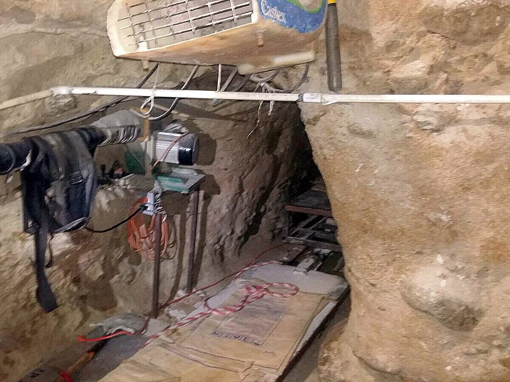 Police Discover Underground Tunnel Used To Transport Drugs By Rail Basement Phone Wiring The
