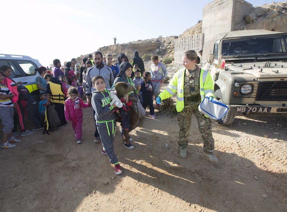 More than 100 migrants came ashore at Akrotiri on Wednesday – others have been at the base since 1998