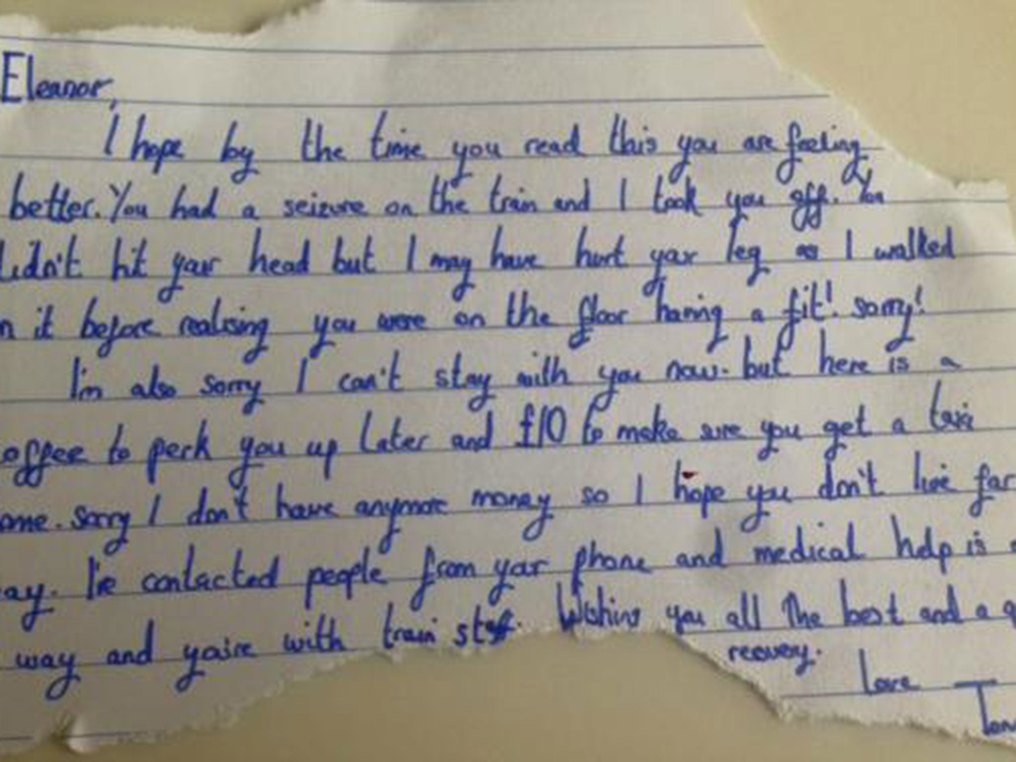 Woman trying to find stranger who left kind note after