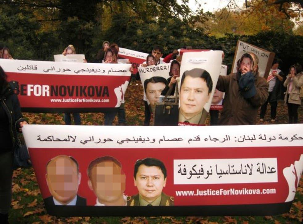 The demo organised by Media Gang  last June in  west London