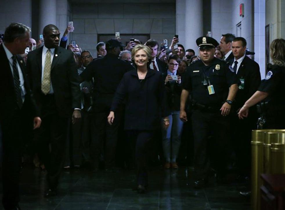 Hillary Clinton at the House select committee hearing last week