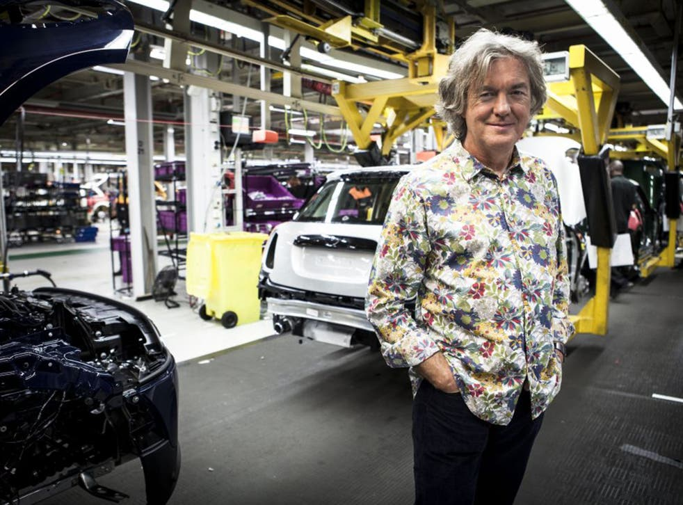 James May on his show Building Cars Live from Cowley
