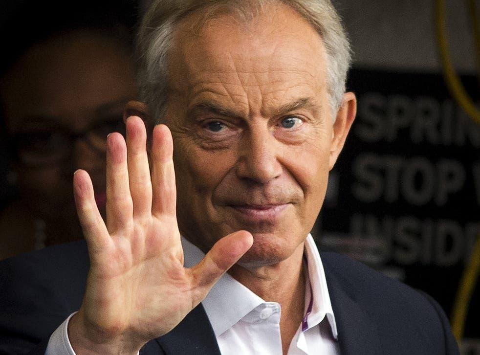 Tony Blair, former prime minister