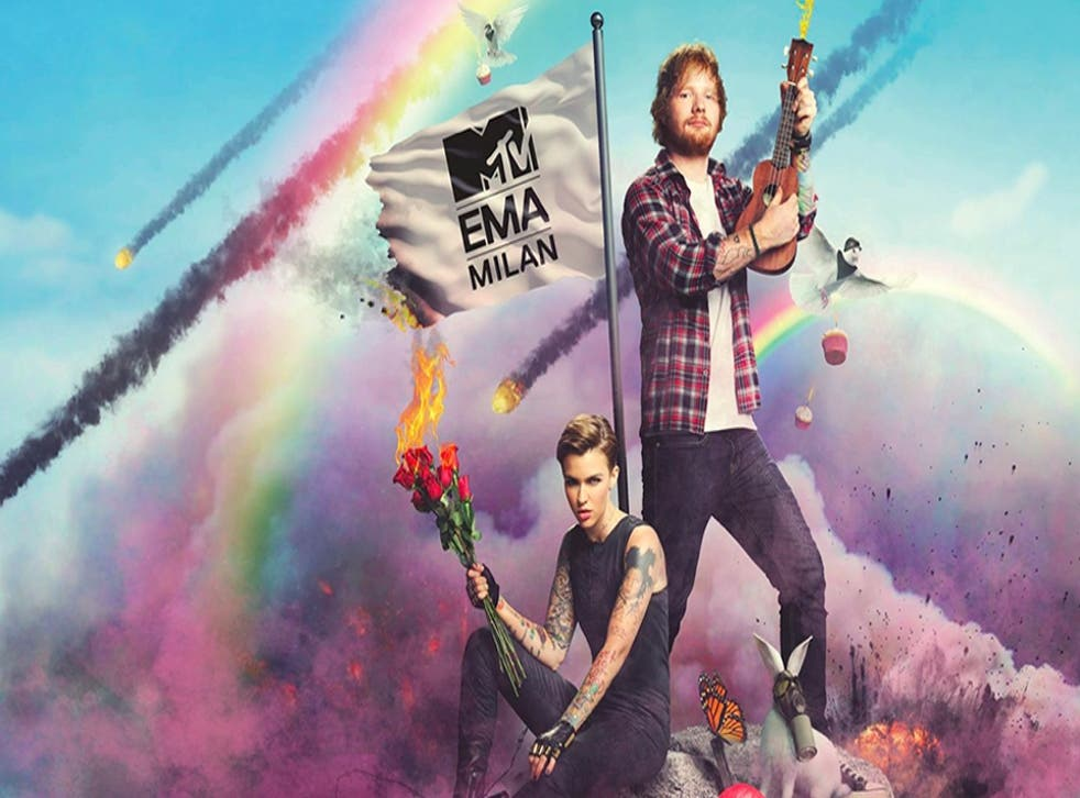 Ed Sheeran and Ruby Rose are set to host 2015's MTV EMAs