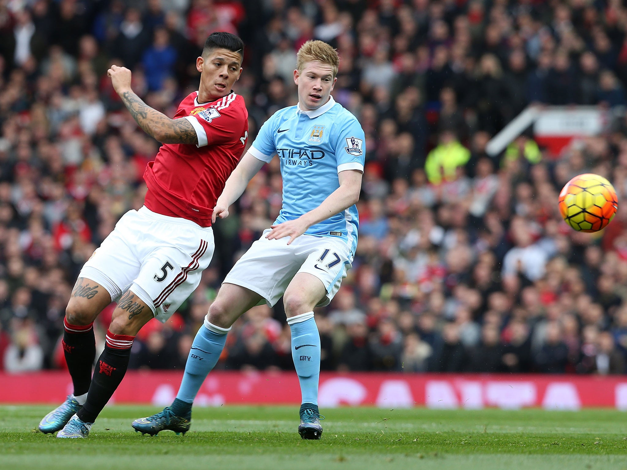 Marcos Rojo: 'phenomenal' Manchester United full-back lauded on social media for display in Manchester derby
