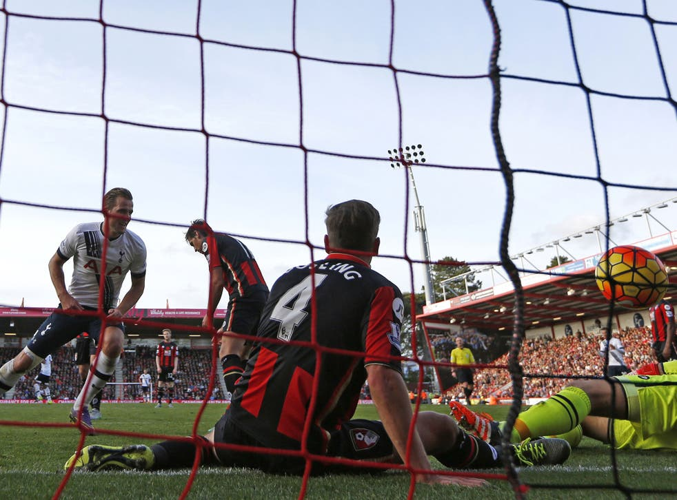 A view of the action during Bournemouth's humiliating defeat to Tottenham