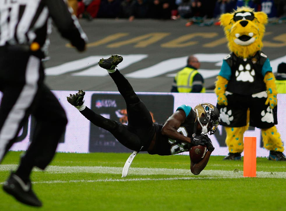 Allen Hurns with a late touchdown at Wembley