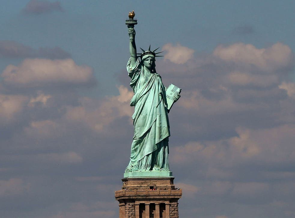 The Statue of Liberty, one of the first sights that would have greeted the immigrants that came into Ellis Island