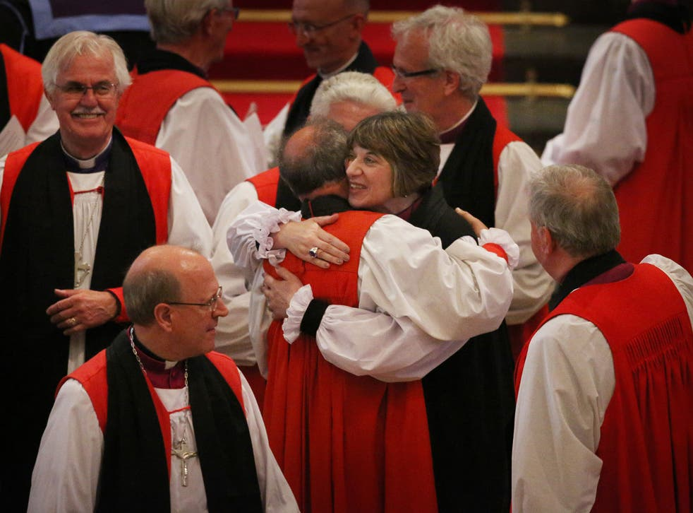 The Bishop of Gloucester and the Right Rev Rachel Treweek, at her consecration in July 2015