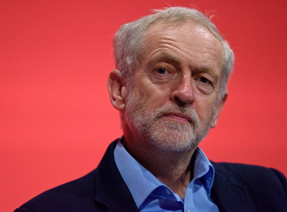Labour Leader Jeremy Corbyn during the Labour Party Autumn Conference