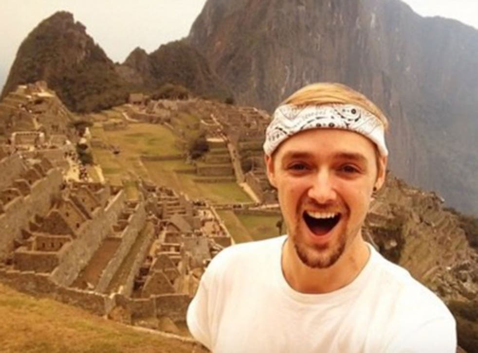 Jamie Ather said he was 'slightly overwhelmed' when he arrived at Macchu Picchu