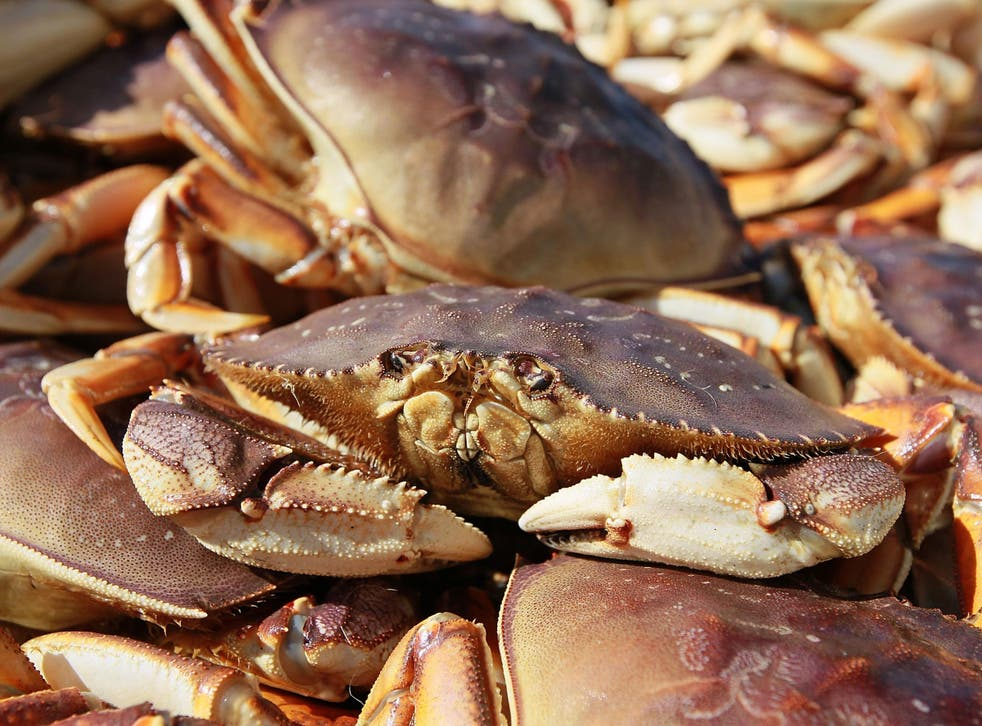The crabs could reportedly be seen moving inside the packaging