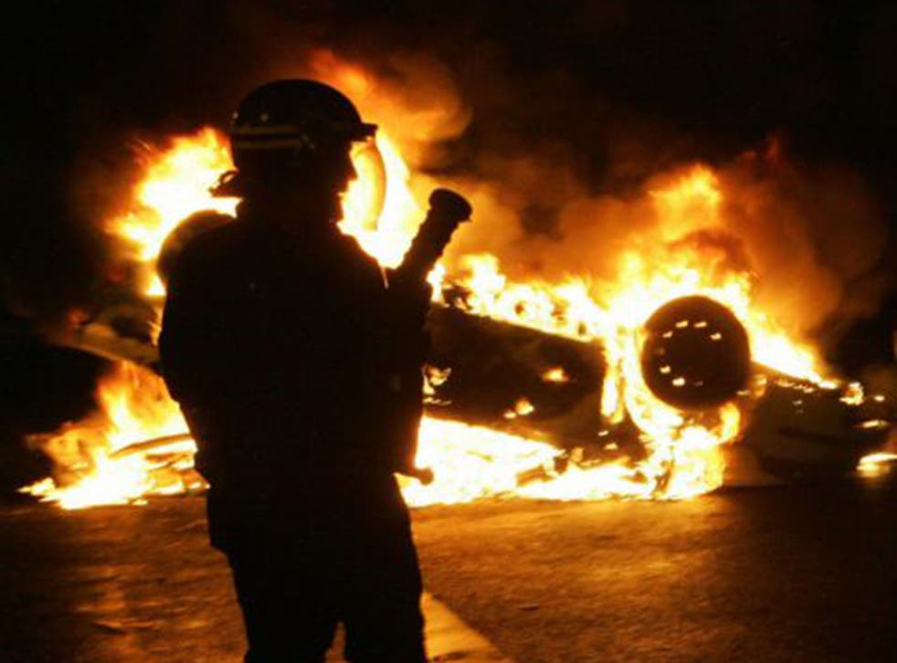 The northern Paris suburb of Clichy-sous-Bois on the sixth night of the 2005 riots. France's Prime Minister, Manuel Valls, is set to announce measures to improve 'urban ghettos'