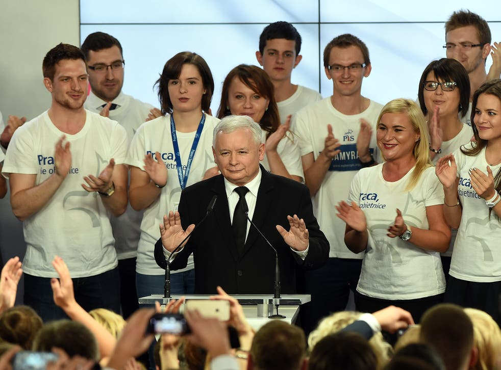 Jaroslaw Kaczynski's victorious Law and Justice party won 37.6 per cent of the vote in Sunday's parliamentary election